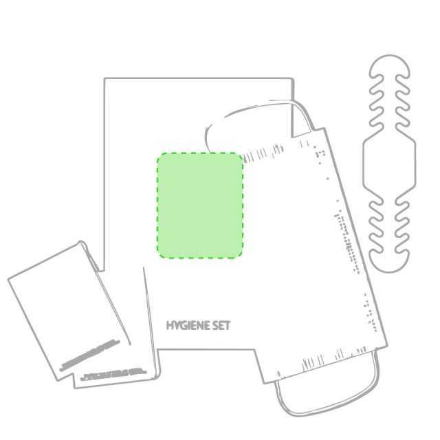 Área marcaje bolsa set higiénico