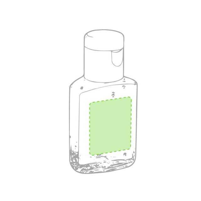 Bote gel hidroalcohólico superficie personalización