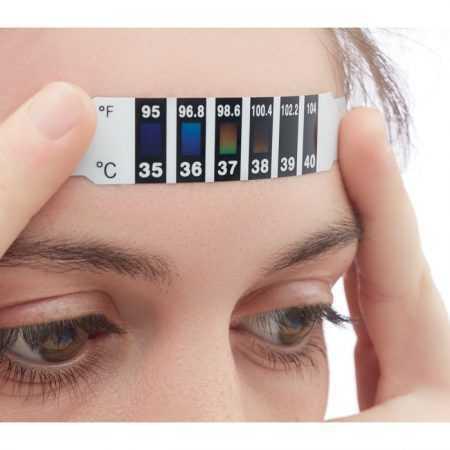 Tira indicadora de fiebre desechable