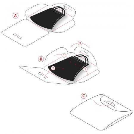 Instrucciones uso portamascarillas higiénicas