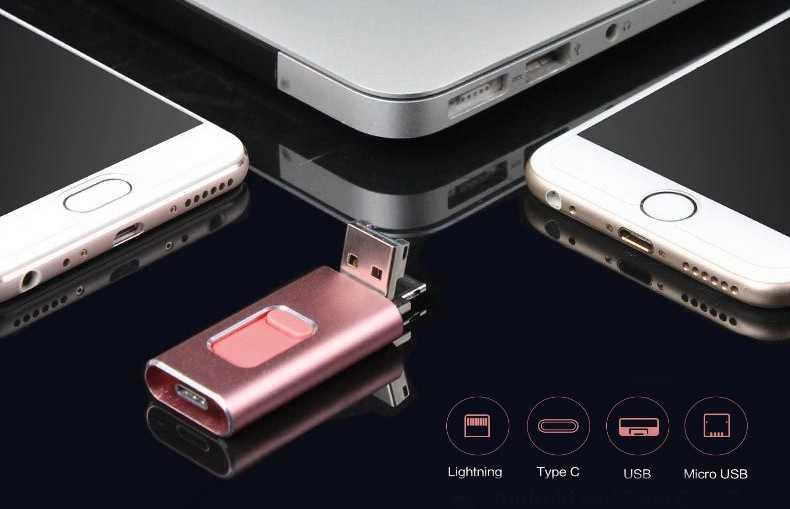 Pendrive memoria USB 4 en 1