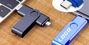Pendrive USB personalizado dual OTG con conector USB-C