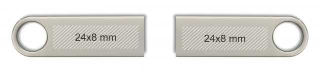 Área de marcaje para pendrive USB metálico mini