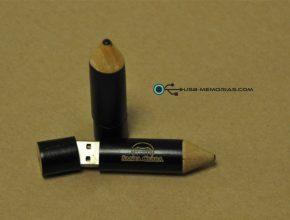 Memoria USB lápiz madera