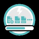 Icono servicio de precarga de datos usb memorias