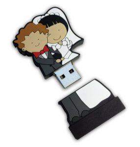 Memorias USB para regalo de boda custom