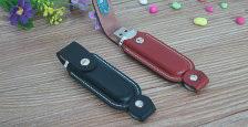 Memoria USB con carcasa recubierta en cuero de usb-memorias.com